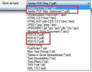 Types of PDF Standards